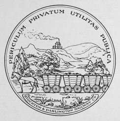 The seal of the Stockton & Darlington Railway