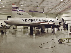 Carolinas Aviation Museum's South Carolina Air National Guard F-102 being washed by US Airways employees.