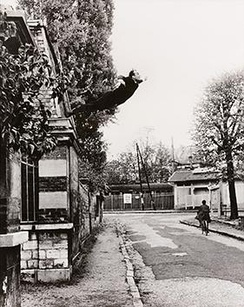 Le Saut dans le vide (Leap into the Void); Photomontage by Shunk–Kender of a performance by Klein at Rue Gentil-Bernard, Fontenay-aux-Roses, October 1960