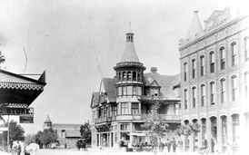 Downtown Alhambra, Garfield and Main, 1890