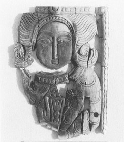 Ivory (circa 8th century) discovered in the Abbasid homestead in Humeima, Jordan. The style indicates an origin in northeastern Iran, the base of Hashimiyya military power.[112]