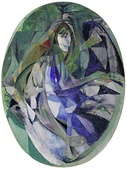Jacques Villon, 1912, Girl at the Piano (Fillette au piano), oil on canvas, 129.2 x 96.4 cm, oval, Museum of Modern Art, New York. Exhibited at the 1913 Armory Show, New York, Chicago and Boston. Purchased from the Armory Show by John Quinn