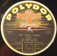 1920s vintage Polydor export label with its double-horn gramophone logo