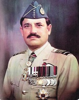 Air Chief Marshal Anwar Shamim of the Pakistan Air Force wearing his four-star rank insignia (four-star visible on his cap)