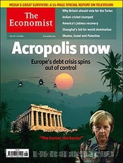 May 1, 2010 cover of the Economist newspaper, illustrating the 2010 European sovereign debt crisis with imagery from the movie, attests to the film's pervasive cultural impact.