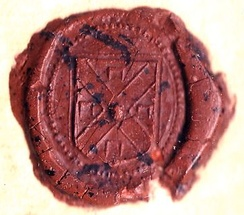 The personal seal of William Stoughton on the warrant for the execution of Bridget Bishop