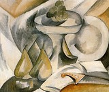 Georges Braque, 1908, Plate and Fruit Dish, oil on canvas, 46 x 55 cm, private collection