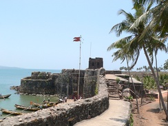 Sindudurg Fort provided anchorages for Shivaji's Navy