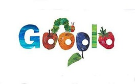 Google search page on the 40th anniversary of The Very Hungry Caterpillar