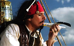Michael Bolton as Jack Sparrow in the song's music video, broadcast as an SNL Digital Short.