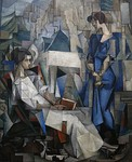 Two Women (Dos Mujeres, Portrait of Angelina Beloff and Maria Dolores Bastian), 1914, 197.5 x 161.3 cm. Arkansas Arts Center
