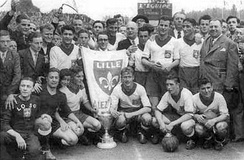 The team with Coupe de France in 1946.