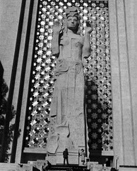 The eight-story-tall figure of Pacifica was the central spirit of the Golden Gate International Exposition.