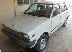 Suzuki FX (SS80S), assembled in Pakistan, note the facelifted square front lights and extended plastic bumpers.