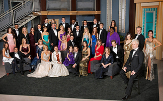 The 50th anniversary (2012–13) official cast photo of General Hospital. Front row : Anthony Geary Second row (l-r): Vanessa Marcil, Maurice Benard, Kelly Sullivan, Leslie Charleson, Laura Wright, Jane Elliot, Brooklyn Rae Silzer, Jason Thompson, Kelly Monaco, Nancy Lee Grahn, Genie Francis, Kin Shriner, Finola Hughes Third row: Kirsten Storms, Bradford Anderson Fourth row: Teresa Castillo, Marc Anthony Samuel, Robin Mattson, Jacklyn Zeman, Sean Kanan, Lisa LoCicero, John J. York, Kristina Wagner, Rebecca Herbst, Dominic Zamprogna, Emme Rylan, Emily Wilson, Chad Duell, Sonya Eddy, Ian Buchanan, Lynn Herring Back row: Jimmy Deshler, Haley Pullos, Drew Cheetwood, Sean Blakemore, Tyler Christopher, Derk Cheetwood, Kelly Thiebaud.