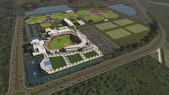 A rendering of the new stadium