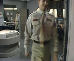 Split-screen techniques were used to achieve the Rimmer echo