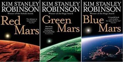 Covers of the Mars trilogy