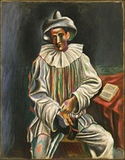 Pablo Picasso, 1918, Pierrot, oil on canvas, 92.7 × 73 cm, Museum of Modern Art, New York