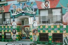 Casa Aztlán. A mural in Pilsen, Chicago for the Chicano Movement