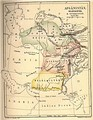 Beluchistan, shown as an independent kingdom along with Afghanistan and Turkestan, in an 1880 map.