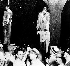 Thomas Shipp and Abram Smith, lynched in Marion on August 7, 1930