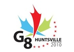In Huntsville's logo, blue and green colours represent the lakes and rivers of the area.  Red is the colour of Canada's flag. Stars honor the 8 participating nations.[60]