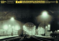1983 Retrospective poster, titled Exile. Six Actors from Germany[7]