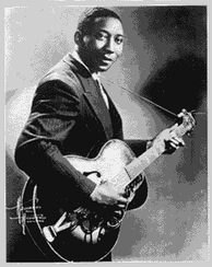 "Muddy Waters, described as ""the guiding light of the modern blues school""[86]"