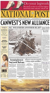 The January 11, 2007 front page of the Post