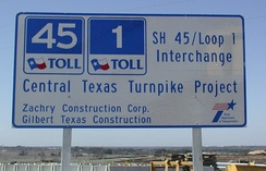 SH 45 was built on a fast-track basis with bonds sold in advance based on the projected toll revenues.