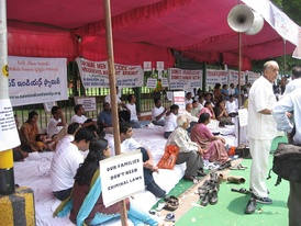 Protest in New Delhi for men's rights organized by the Save Indian Family Foundation