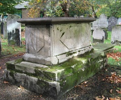 Isaac Watts' tomb in Bunhill Fields