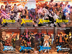"Promotional artwork from the X-Men relaunch ""Regenesis"""