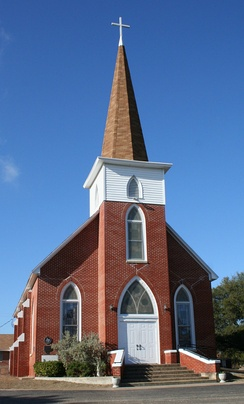 Our Savior's Lutheran Church in Norse, Texas, built in 1885.
