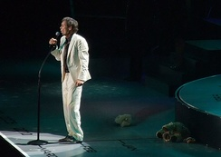 Richard performing in London during the 50th Anniversary tour in 2008