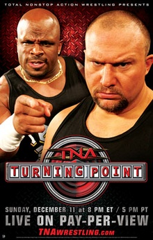 "A poster featuring an American white male and an American black male staring and pointing with a red logo below them that says ""Turning Point"""