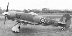 First prototype Tempest II LA602, again with the small tail unit