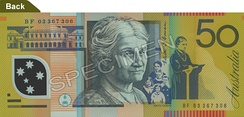 Edith Cowan's portrait appears on the back of Australia's fifty dollar note.