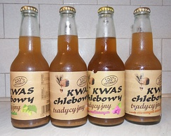 Varieties of natural kwas chlebowy