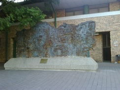 War memorial outside the Polokwane Art Gallery consisting of hundreds of guns melted after the Anglo-Boer war