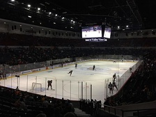 San Diego Gulls Pregame in October 2015 after renovations with arena in hockey configuration