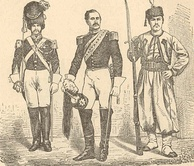Papal soldiers around 1860