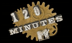 120 Minutes' 120 Minutes' most recognisable logo used during Matt Pinfield's tenure from 1995-1998.