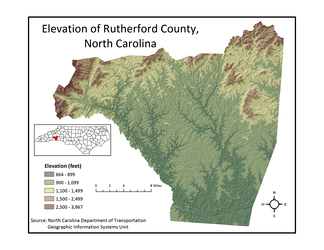 Rutherford County Elevation