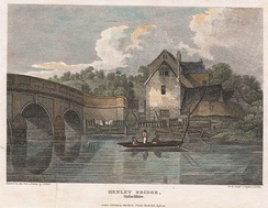 Henley Bridge, engraved in 1812 from a drawing by J. P. Neale, and published in The Beauties of England and Wales
