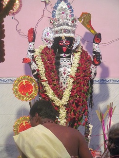 Kali Puja at a home in Howrah