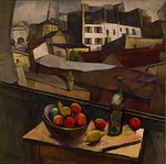 Knife and Fruit in Front of the Window, 1917, 91.8 × 92.4 cm. Museo Dolores Olmedo