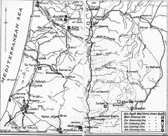 Downes Map 20 Desert Mounted Corps medical situation 27–28 September 1918