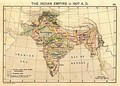 The Indian Empire in 1907 during the partition of Bengal (1905–1912).